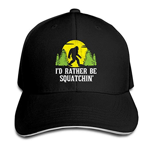 Baseball Caps Big-Foot Sa-Squa-Tch F-U-Ll Moon Unisex Fashion Casual Verstellbarer Plain Hat Outdoor Sporting Baseball Cap Schwarz