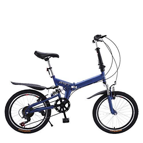 "CEALEONE Bike-to-Go Folding Fahrrad - 20\"" Rad, hinten Hydraulic Shock Aufhängung, Faltbare Pedale, Aluminium-Legierung Fahrrad-Rahmen,Blau"