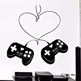 yaonuli Game Love Controller Etiqueta de Pared Joystick Game Player Etiqueta de Pared de Vinilo extraíble 50X50cm