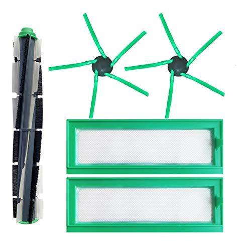 TOOGOO Kit de Repuesto para Aspiradora Vorwerk VR200 VR300 Piezas de Repuesto Cepillo de Rodillo Principal Cepillo Giratorio y Paquete de Filtro Hepa