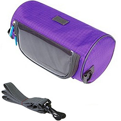 TINTON LIFE Waterproof Bicycle Handlebar Bag with Transparent Pouch and Adjustable Strap High-Capacity Cycling Front Pack (Purple)