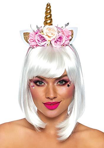 Leg Avenue Damen Fairy Unicorn Flower Headband Panamahut, (Multicolor), (Herstellergröße: One sizeUk 6-12)