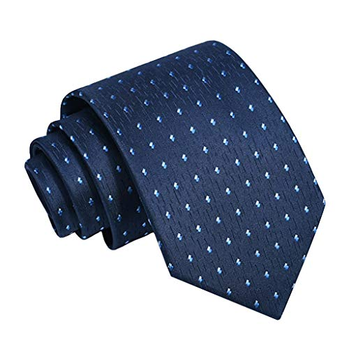 QINJLI Männliche Geschäfts-Krawatte 8CM Stickte Blitz-Hemd-Zusatz-weiche Chemische Reinigungs-Konferenz/Hochzeit/Feier-offizielle Gelegenheits-Geschenke Für Jungen/Väter (Color : Blue)
