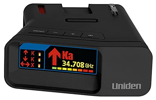 Uniden R7 Extreme Long Range Laser/Radar Detector, Built-in GPS w/Real-Time Alerts, Dual-Antennas Front & Rear w/Directional Arrows, Voice Alerts, Red...
