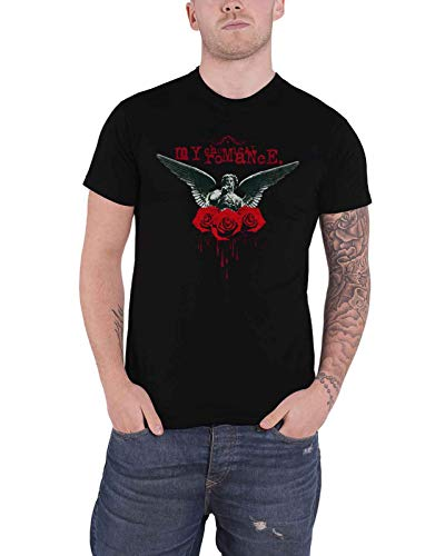 My Chemical Romance T Shirt Angel of The Water Band Logo Nuovo Ufficiale Uomo Size L