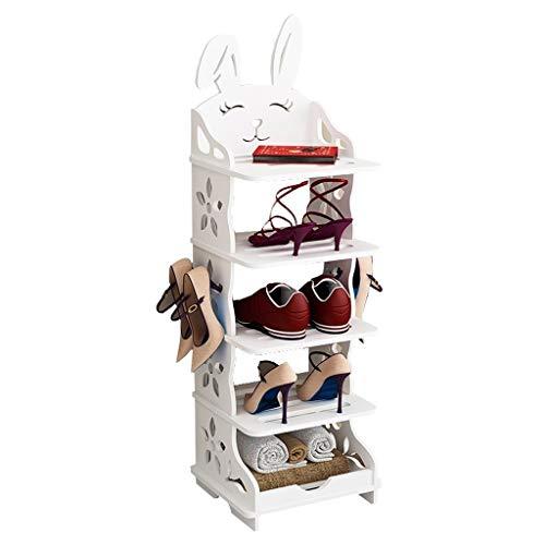 LJXLXY Shoe racks storage Simple Multi-layer Economic Shoe Rack Creative Cute Animal Shoe Cabinet Hollow Pattern Home Storage Shoe Rack Shoe racks storage cupboard hallway (Size : XL)
