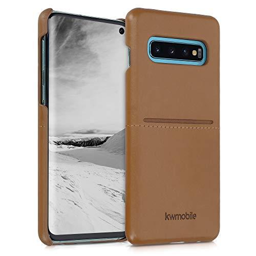kwmobile Funda con Tarjetero Compatible con Samsung Galaxy S10 - Carcasa para móvil de Cuero sintético con Ranuras para 2X Tarjeta