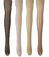 裸ラインストーン網タイツナイロンストッキングパターンタイツパンストプラスサイズのための女性6パック (BigSサイズ D)