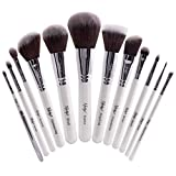 Nanshy Meisterhaftes Collection Make-up-Pinsel-Set – Onyx Schwarz oder Perlglanz Weiß (Perlglanz Weiß)