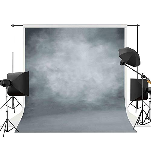 Allenjoy 5x7ft Abstract Gray Professional Photography Backdrop Digital Oil Painting Texture Old Master Background Photographer Photo Studio Props Polyester