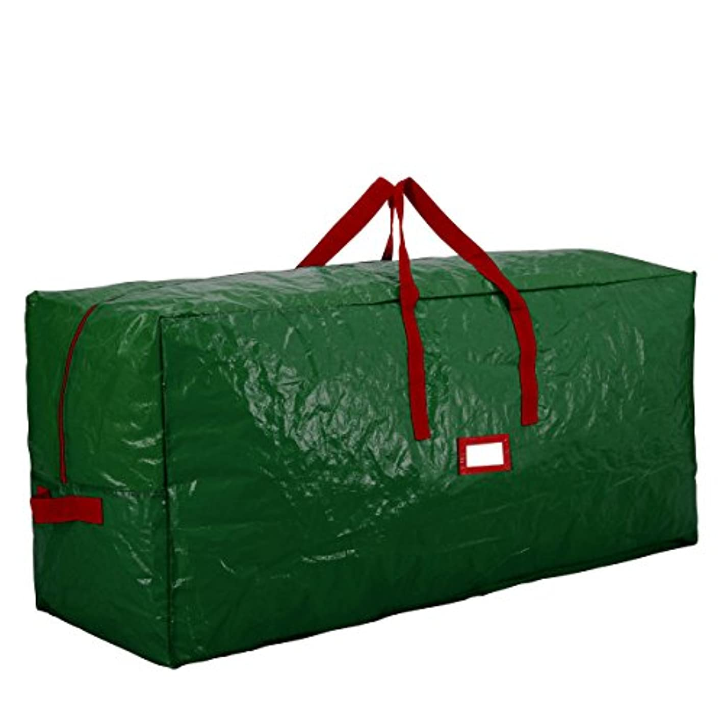 Premium Green Extra Large Holiday Christmas Tree Storage Bag-Fits Trees Up to 9 Feet Tall-Tear Resistant Zippered Bag with Reinforced Handles -65 x 15 x 30 (Green)