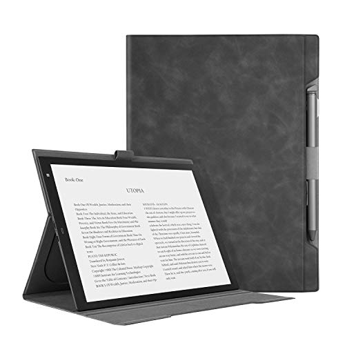"Ayotu Skin Touch Feeling Folding Cover for Sony DPT-RP1 13"" Digital Paper,Light and Thin Case with Stand Function and Pen Slot for Sony DPT-RP1"
