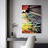 Pintura por números Pintura para adultos Colorido Piano Canvas Art Kit DIY Pintura al óleo para principiantes