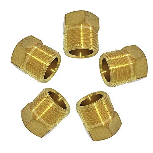 Brass Inverted Flare Fitting Tube Nut, Brake Line Plug, 5/16