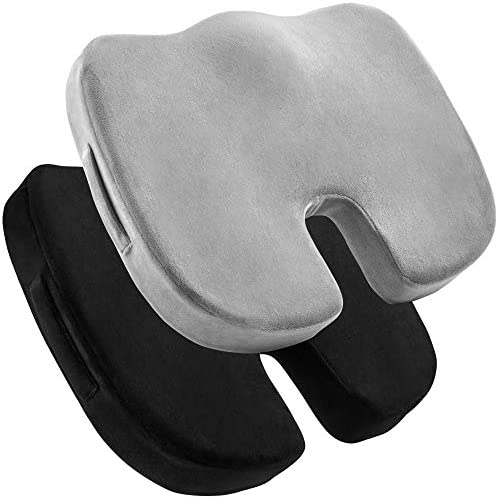 2 Pack Seat Cushions Memory Foam Tailbone Pillow Pad for Sitting Office Computer Desk Chair product image