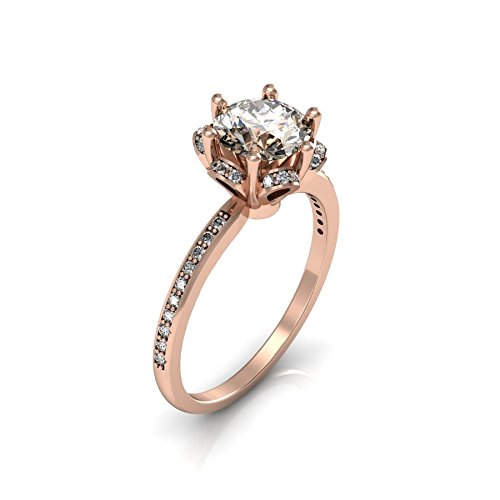 14k Rose Purchase Gold Classic Engagement or Diamond with Ring an Wedding Branded goods