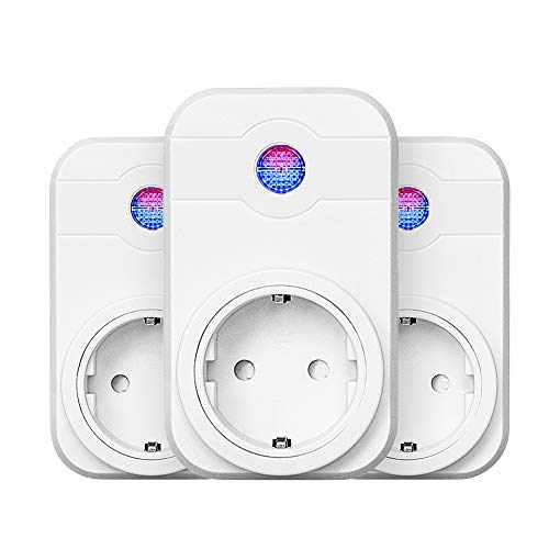 3-Packs Wifi Steckdose Horsky Smart Home intelligente Steckdose kompatibal mit Amazon Alexa/Echo/Echo Dot und Google Home mit Timer-Funktion für Zuhause und Büro kein Hub erforderlich