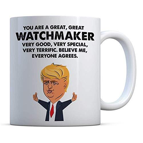 N\A Eres un Gran, Gran relojero Trump, Regalo Divertido, Regalo de cumpleaños, Taza de café, Taza de relojero, Taza de café de cerámica/Taza/vajilla, Alto Brillo