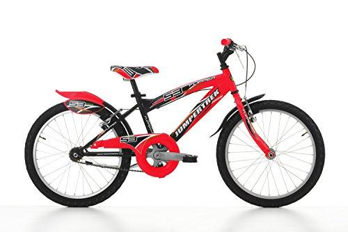 Ciclos Cinzia MTB Flipper sin Cambio, V-Brake Aluminio, Bicicleta Niño, Negro/Rojo, 20