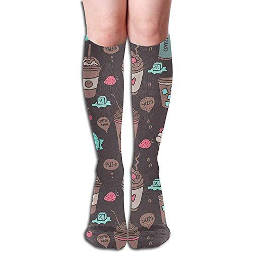 Crew Sokken, Zoete Dranken Decoratieve Mode knie Sokken Voor Outdoor Wandelen Fietsen 50cm