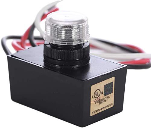 Multi-Volt 120-277V Outdoor Hard-Wired Button Eye LED Photo Control, Light Sensor, Photosensor is UL Listed