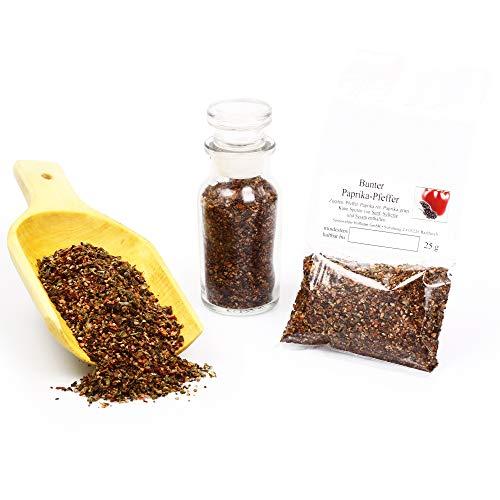 Bunter Paprika Pfeffer Mischung | universelle Gewürzmischung naturbelassen | Paprika geräuchert | glutenfrei | 25g
