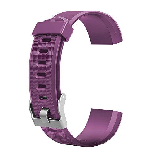 Demiawaking Armband Ersatz Zubehör für ID115Plus HR Smart Watch (Lila)