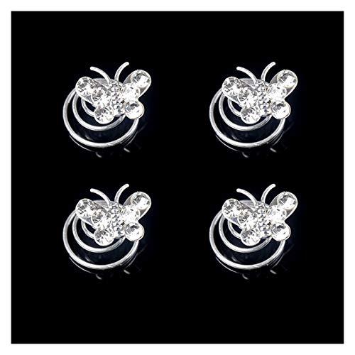 Djujiabh Clips de Pelo Accesorios for el Cabello niñas 4pcs / Lot broches de Horquilla for Las Mujeres Headwear Headwear Chicas Estrella Horquilla Espiral Garra del Pelo (Color : B029)