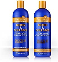 Renpure Biotin and Collagen Thickening Shampoo & Conditioner Set, 16 Ounce Ea.