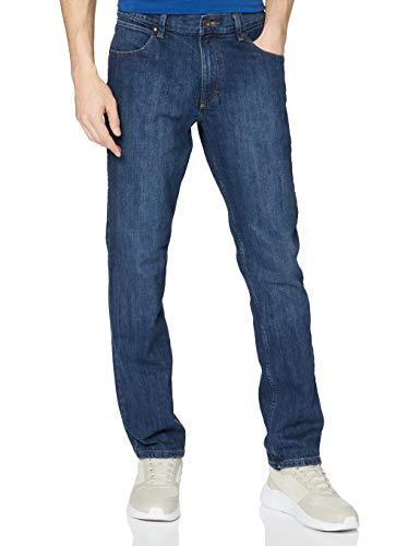 Wrangler Authentic Regular Jeans, Blu (Blu Dark Stone 098), 34W / 30L Uomo