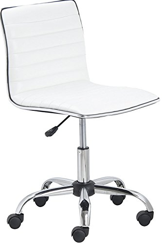 BTEXPERT BTExpert Swivel Mid Back Armless Ribbed Designer Task Chair Leather Soft Upholstery Office...