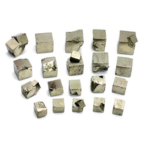 CrystalAge - Cubo de pirita de hierro, tamaño pequeño, 15 mm