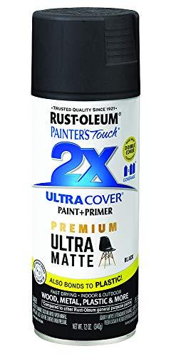 Rust-Oleum 331182 Painter's Touch 2X Cover, 12 Oz, Ultra Matte Black