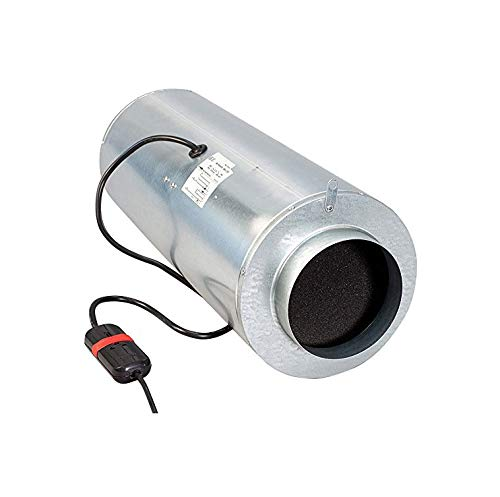 Weedness Can Iso-Max Rohrventilator 1-Stufig 1480 m³ 250 mm Anschluss Schallgedämmt - Abluft Ventilator Rohrlüfter leise Silent Lüfter Grow Growbox Zuluft Badlüfter