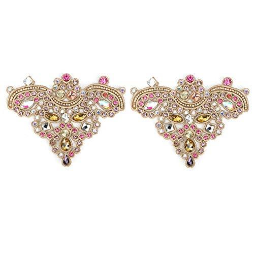 Zapatos de diamantes de imitación de cristal Apliques Cristales brillantes Apliques de...
