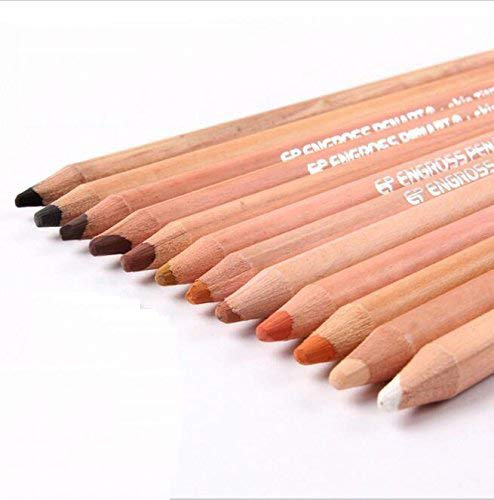 EP ENGROSS PENART 12 Professional Soft Pastel Pencils Wood Skin Tints Pastel Colored Pencils for Drawing School Lapices De Colores Stationery
