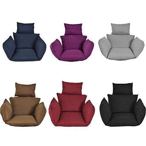 Hanging Egg Hammock Chair Pads, Hammock Chair Cushions, Swing Seat Cushion, Thick Nest Hanging Chair Back With Pillow, Hanging Egg Hammock Chair Cushions (Black)