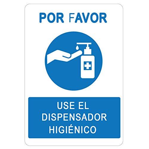 Señalización COVID-19 | Cartel Dosificador Higiénico para empresas, comercios, oficinas | Señal Coronavirus| 21 x 30 cm | Descuentos por Cantidad