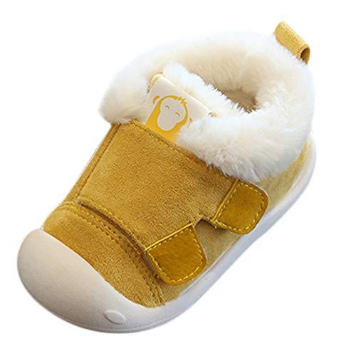 SOMESUN Baby Jungen Mädchen Plüsch Stiefel Schneeschuhe Winter Warme Weich Baumwolle rutschfest Erster Wanderer Krippe Schuhe Freizeit Wasserdicht Winterstiefel Winterschuhe