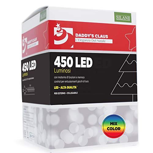 PARTY STORE WEB BY CASA DOLCE CASA 450 LED-verlichting voor kerstboom en buiten (450 LED-kleuren gemengd)