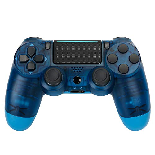Wireless Game Controller for PS4, Game Joystick for Playstation Four with Double Vibration with USB Cable Compatible PS4 - Camouflage Blue