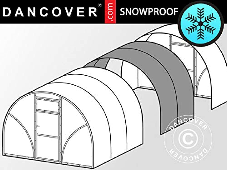 Dancover Greenhouse polycarbonate extension, TITAN Arch 90, 6 m2, 3x2 m, Silver
