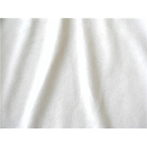 SyFabrics alova Suede Cloth Fabric 58 inches Wide White