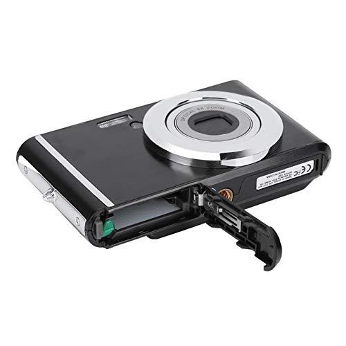 PUSOKEI Fotocamera Digitale HD, Mini Fotocamera HD 720P da 2,4 Pollici con Zoom Ottico 8X, Sensore Pixel da 20 MP, 800 W, Fotocamere Portatili Compatte per Bambini Studenti Principianti(Nero)