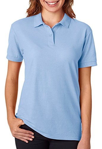 Gildan - Ladies DryBlend Double Pique Polo Shirt - 72800L-Light Blue-3XL