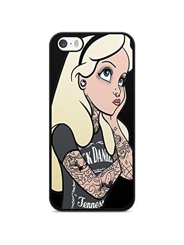 Cover per iPhone 7, motivo: Principessa Tatuaggio Ariel White Snow Alice REF11043