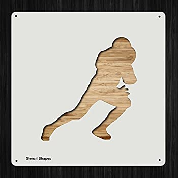 Football Player Plastic Mylar Stencil for Painting Walls and Crafts Item 1321860