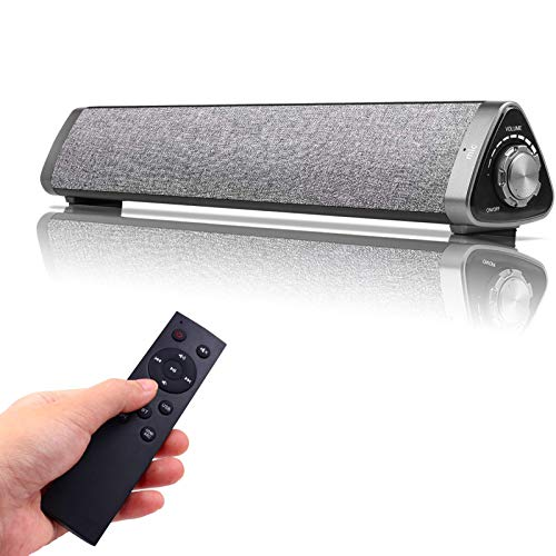 Sanwo Bluetooth Speaker Bar Wired and Wireless Home Theater TV Triangle Speaker Bar with Remote Control,TF Card- Surround Sound Bar for TV/PC/Phones/Tablets, 2 X 5W Compact Sound Bar