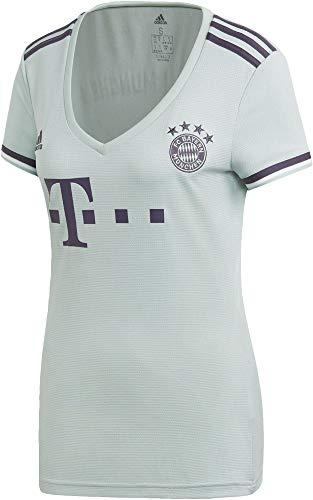 adidas Damen 18/19 FC Bayern Away Trikot, ash Green/Trace Purple/White, 2XS