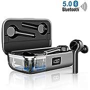 Bluetooth5.0 Kopfhörer Kabellose Sport CVC8.0 Nosie Cancelling In Ear Crystal Call Sound Bluetooth Headsets Volume Control/IPX6 40 Std.Spielzeit/Dual-Mikrofone Leichte Kopfhörer